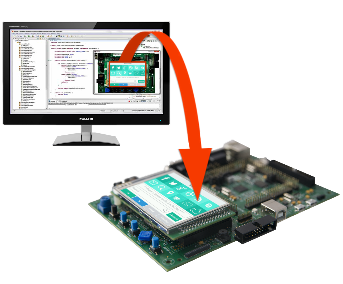 Instant PC simulation of embedded applications