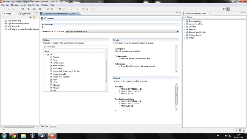 MicroEJ platform designer 2