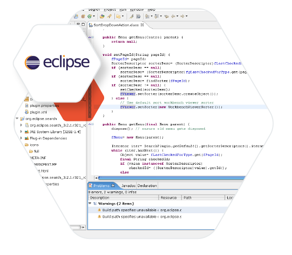 MicroEJ SDK is an IDE built on Eclipse for creating feature-rich applications for embedded platforms