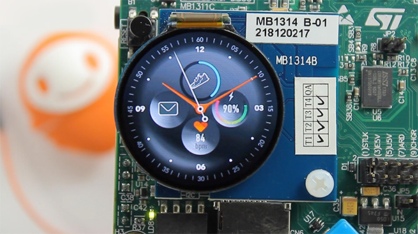 Wearable Demo on STM32L4R9 Discovery Board powered by MicroEJ
